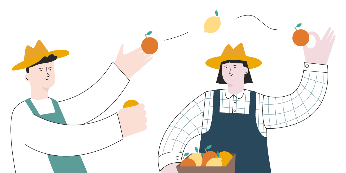 Order oranges from other farmers